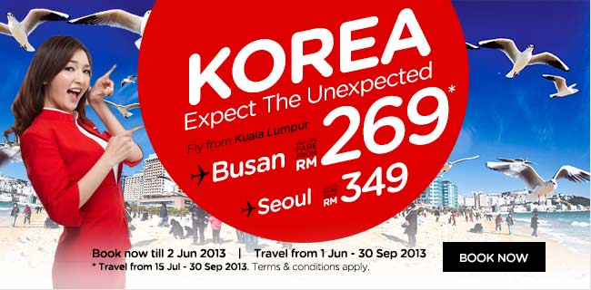 Air Asia to Korea