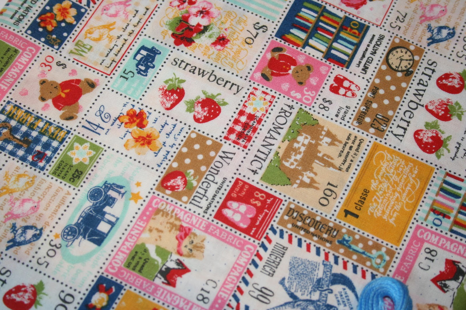 One Of The Nicest Surprises This Week Was Receiving A Little Package In Mail From Japan I Had Forgotten That Ordered Postage Stamp Fabric