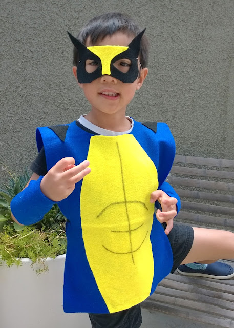 no sew kids wolverine costume
