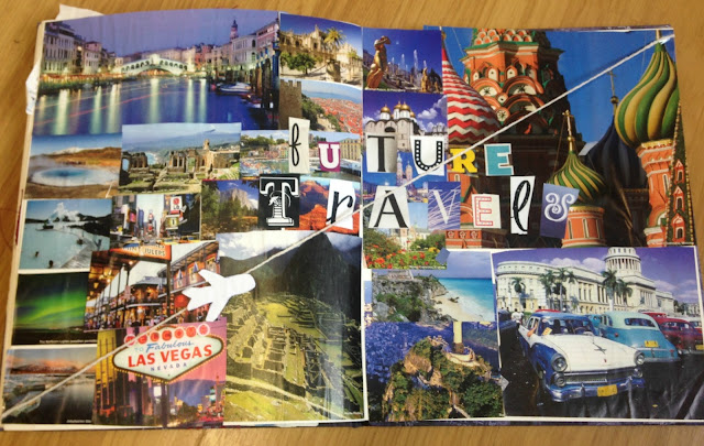 Future Travels Scrapbook Page