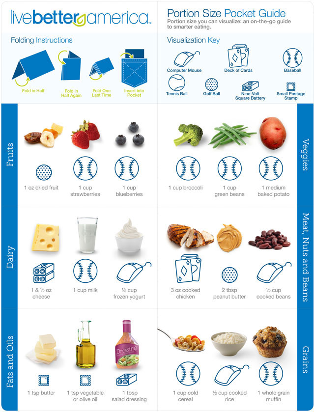 What+Are+The+Portion+Sizes+For+Food the proper portion for each food ...