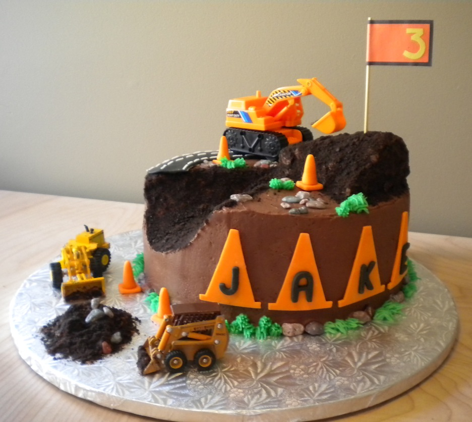 construction cakes pictures