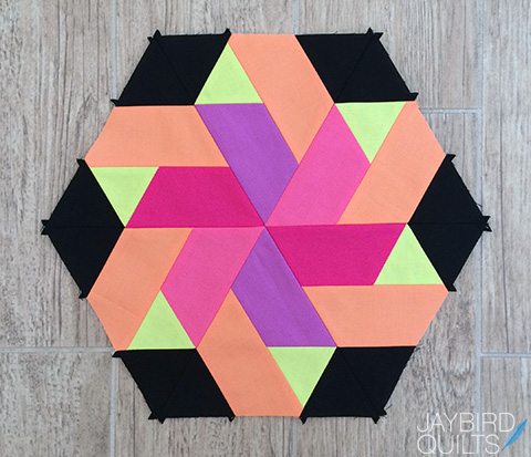 Sweet Tooth Block 11 Ribbon Candy Jaybird Quilts