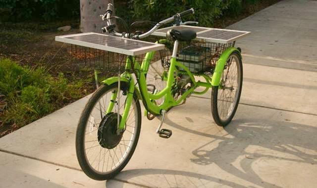 sepeda listrik bertenaga matahari