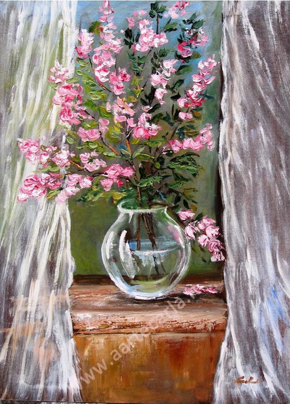 Ben noto arteCarlaColombo: Continuo con i fiori - opera ad olio NC04