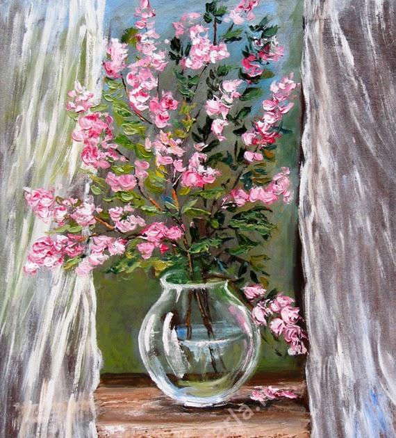 Artecarlacolombo continuo con i fiori opera ad olio for Quadri ad olio con fiori