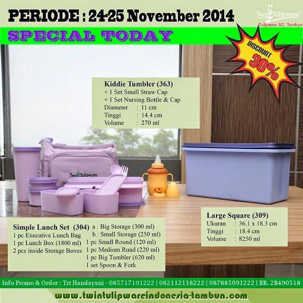 Special Today, Promo Harian, Promo Hari Ini Tulipware Tupperware November 2014