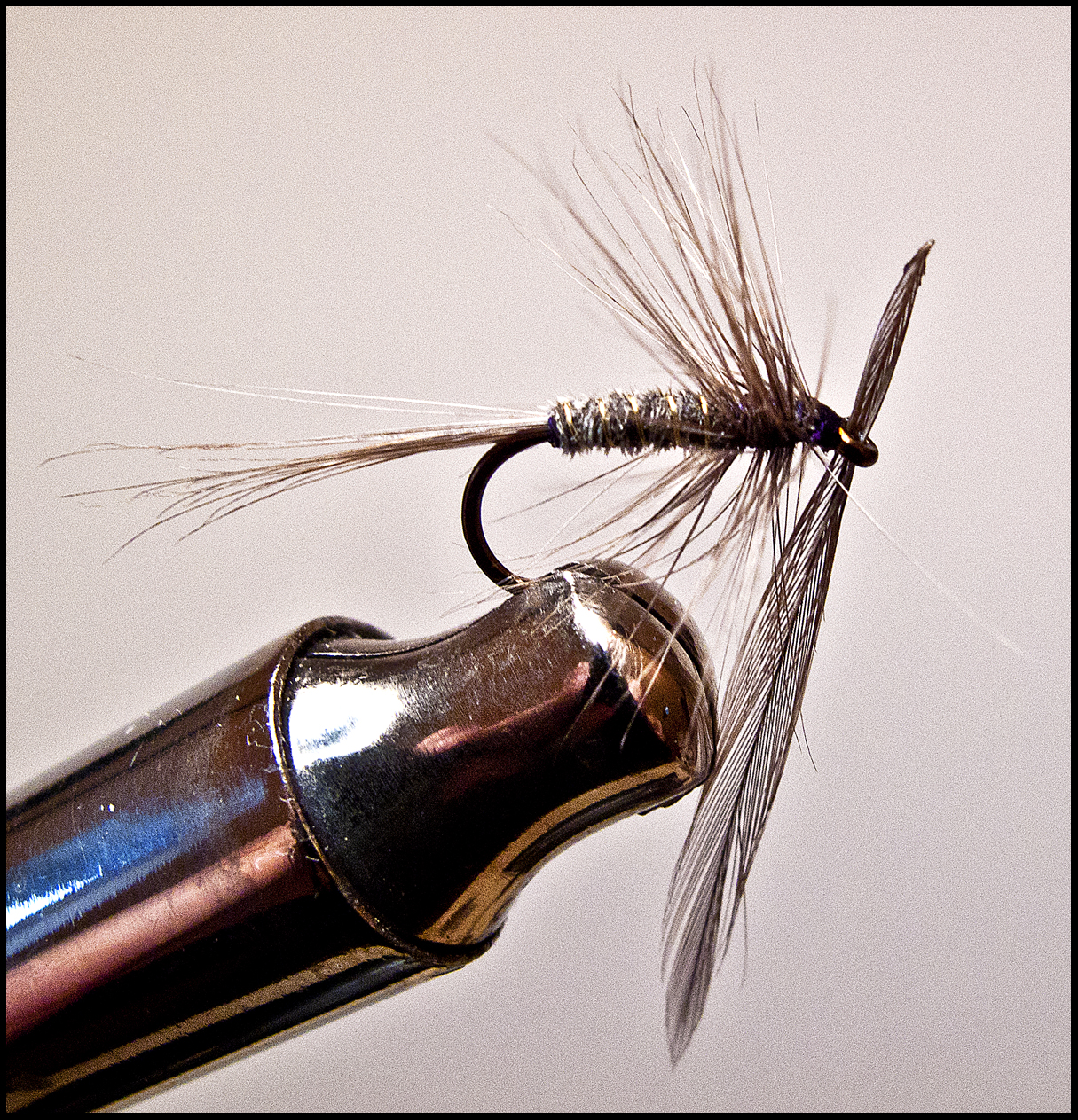 how to make half hackle on fly