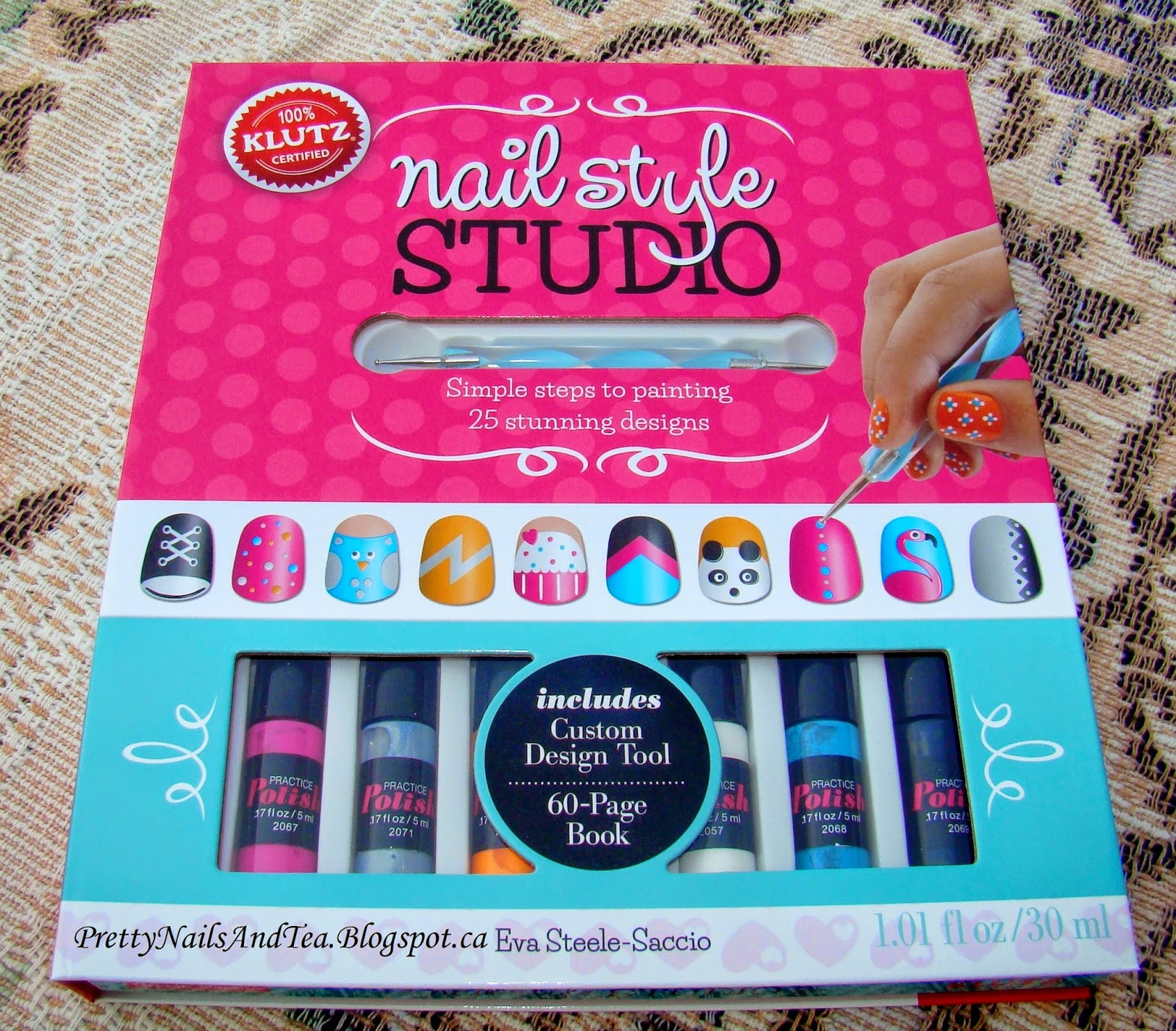 Pretty Nails and Tea: KLUTZ Nail Style Studio | Nail Art Book Review
