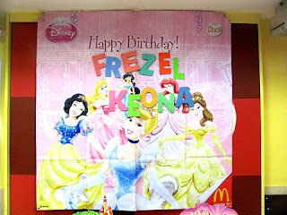 Backdrop - Birthday Party - Disney Princess Theme