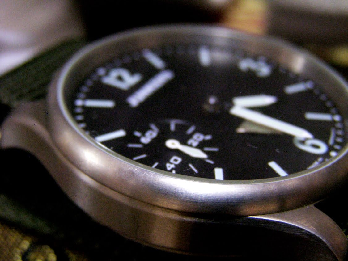 Military Time Clock >> JACK'S TREASURE CHEST OF TIME PIECES: SOLD - AUTHENTIC GERMAN MADE JUNKER MILITARY PILOT WATCH
