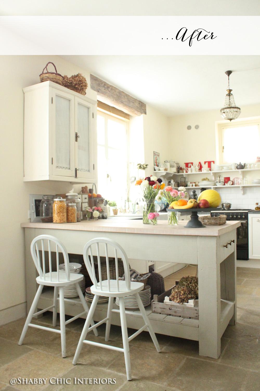 Trasformazione in cucina shabby chic interiors for Shabby chic cucina