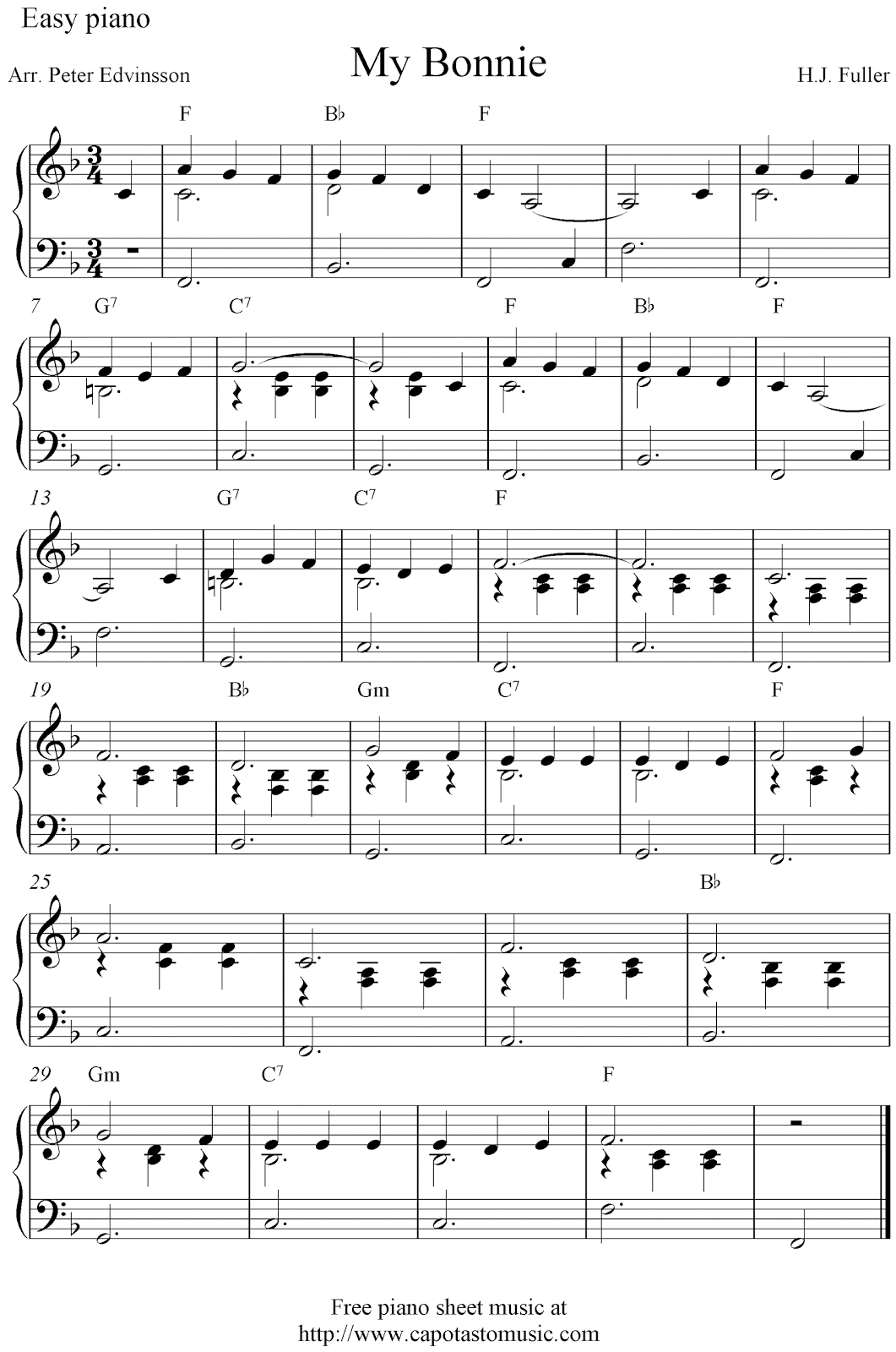 It is an image of Handy Printable Piano Sheet Music Free