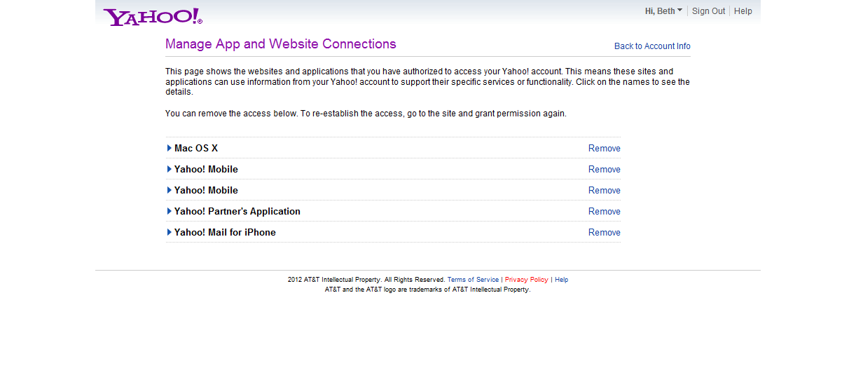 how to cancel yahoo mail verification
