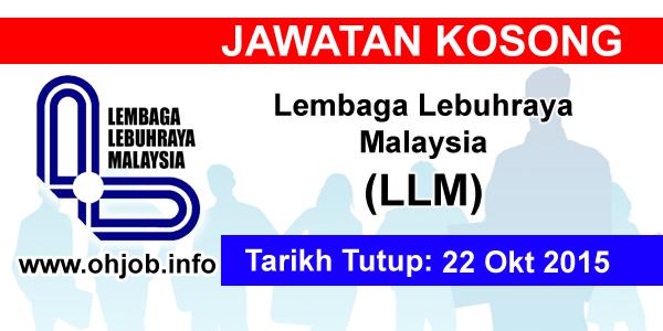 Jawatan Kerja Kosong Lembaga Lebuhraya Malaysia (LLM) logo www.ohjob.info oktober 2015