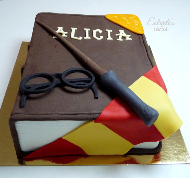 Tarta Harry Potter con fondant - 4