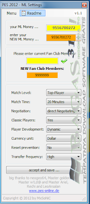 PES 2012 Trainer For Master League 3