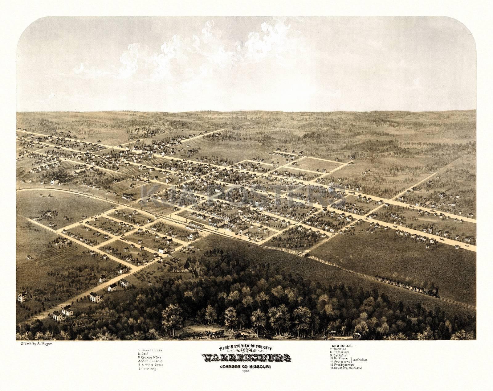 Johnson County - Western Missouri History: Warrensburg Township ...