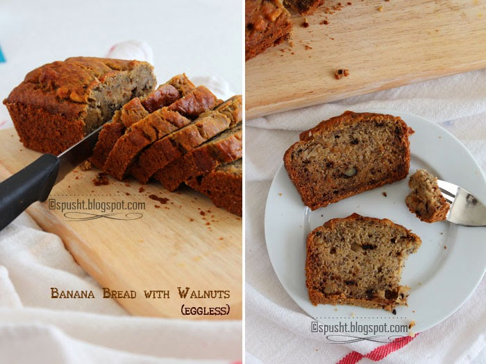 ... -To Posts, Entertaining Ideas, and more: Eggless Banana Bread Recipe