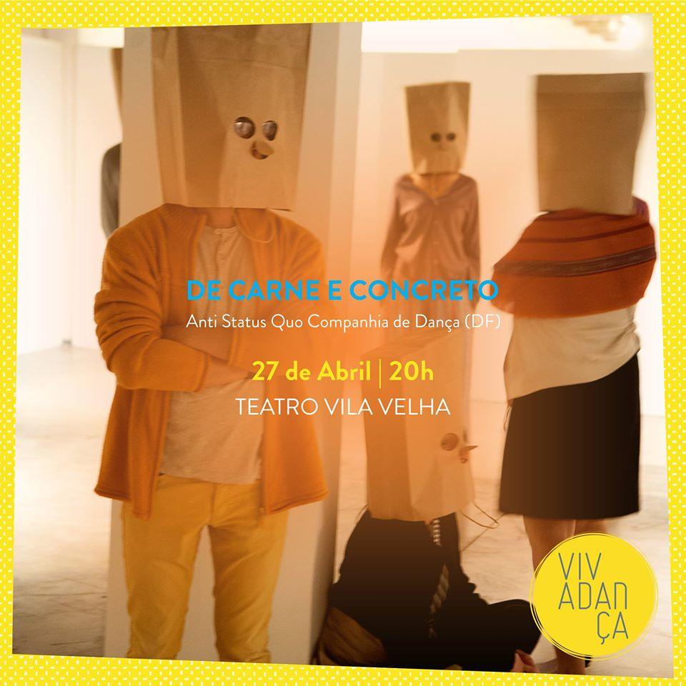 De Carne e Concreto - Uma Instalação coreográfica abre Vivadança Festival Internacional em Salvador