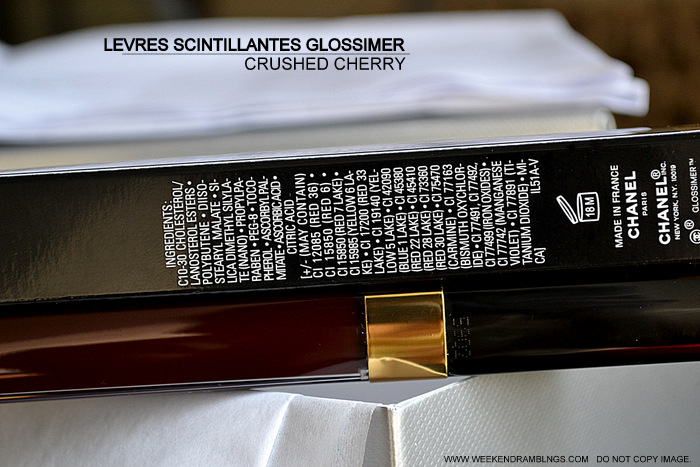 Chanel Levres Scintillantes Glossimer Lipgloss Crushed Cherry 176 Revelation de Chanel Makeup Collection Spring Summer 2013 Indian Beauty Blog Darker Skin Review Photos Swatches FOTD Looks
