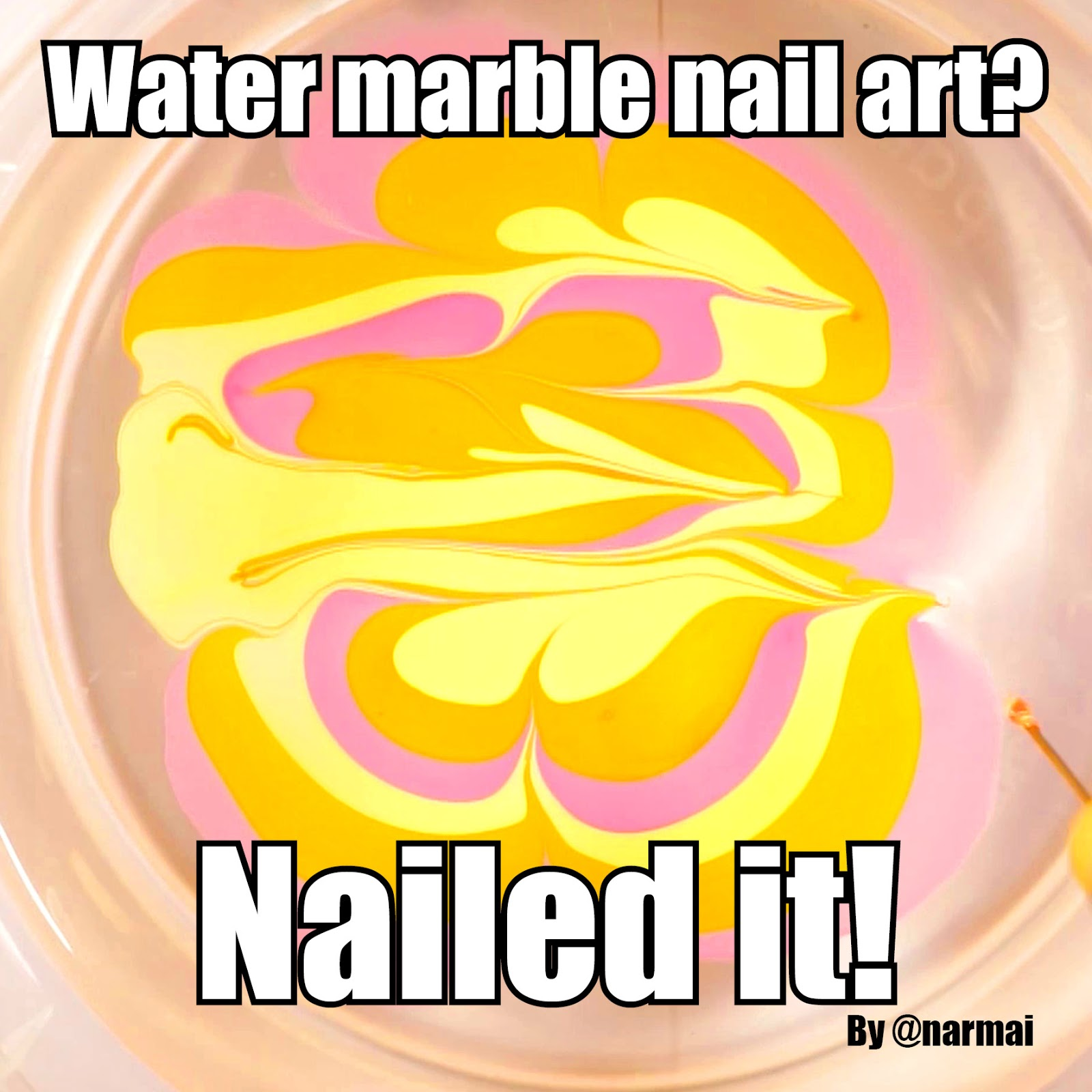 PiggieLuv: How NOT to do water marble nail art - HPB \'New to you\' linkup