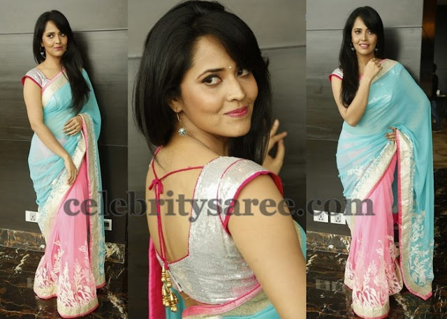 Anasuya Half and Half Fancy Saree