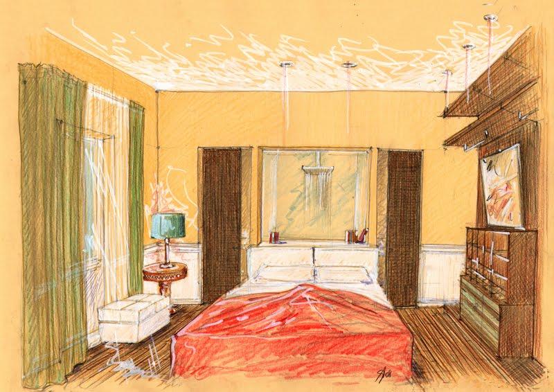 Disegnare un bagno in prospettiva: disegnare una stanza in