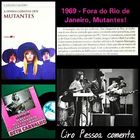Beth Carvalho mobilizou artistas para expulsar os Mutantes do RJ