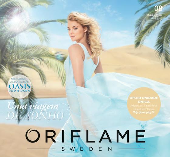 Catálogo 08 de 2013 da Oriflame
