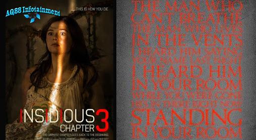 Cerita dalam film ketiga dari film Insidious ini adalah prekuel dari film Insidious yang pertama. Film Insidious Chapter 3 ini merupakan salah satu film horor Hollywood yang paling ditunggu tanggal rilisnya