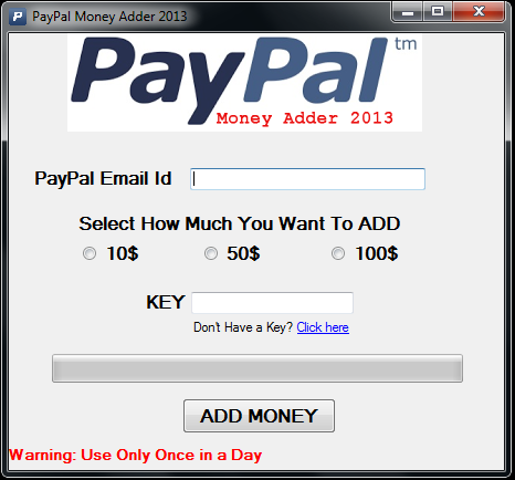 ... : Free PayPal Money Adder Generator 2014 No Survey No Password