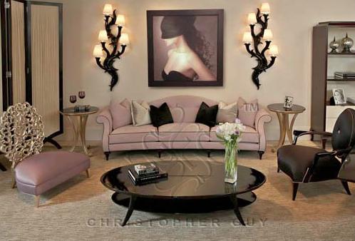 El blog de christopher guy c mo crear una zona de estar - Como poner una lampara de techo ...