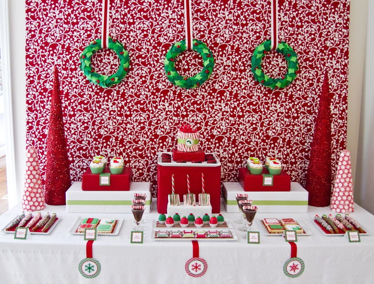 Christmas dessert table decoration ideas - 6 Ideas For The Christmas Dessert Table