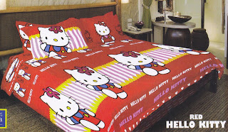 Sprei Belladona Red Hello kitty
