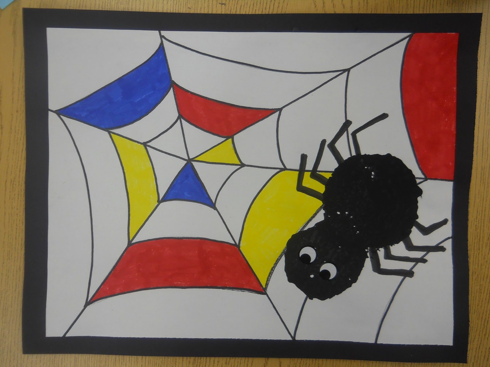 mrs t s first grade class mondrian spider art