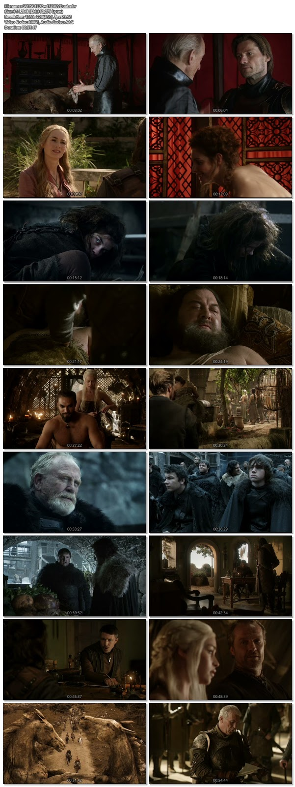 Screenshots Of Hindi Dubbed Show Game Of Thrones 2011 Season 01 Episode 07 300MB 720P HD