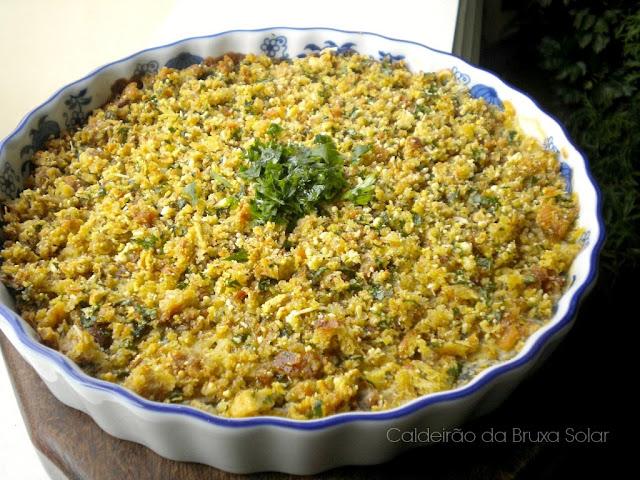 Espinafre cremoso com crosta de salsinha
