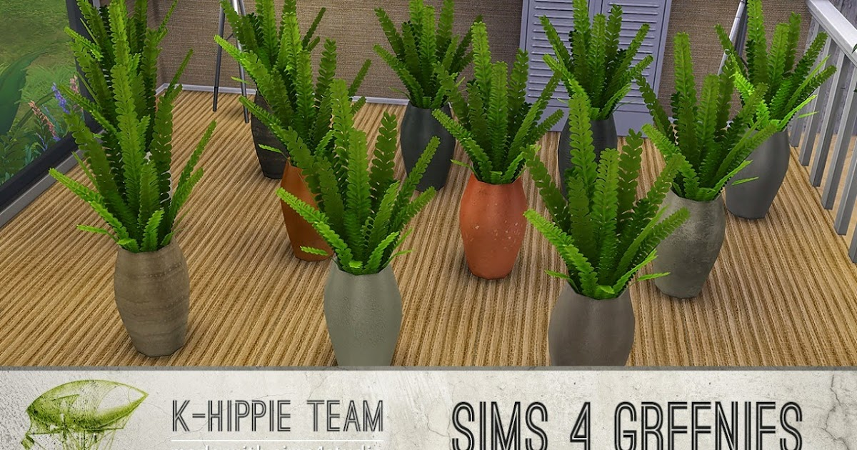 My sims 4 blog the plum fern plant pots by k hippie for Indoor gardening sims 4
