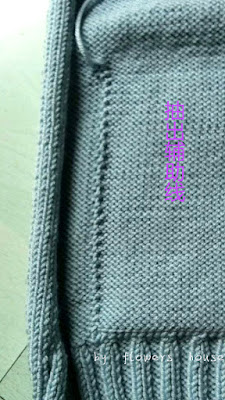 Knitting Jacket- How to Sew Pockets
