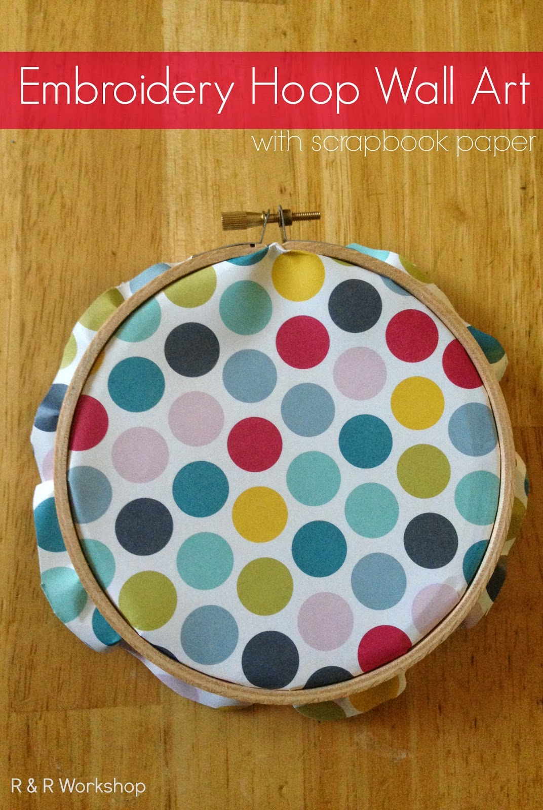 Scrapbook paper wall art - Today I Will Be Sharing How I Made Embroidery Hoop Art With Scrapbook Paper A Simple Craft To Add Personality To Any Wall In Your Home