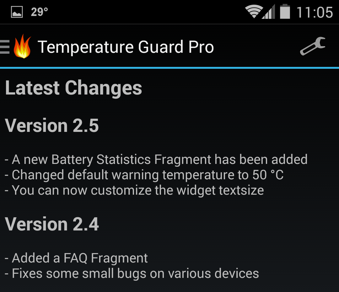 battery temperature guard changelog