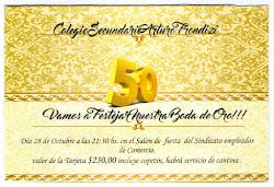 ¡Bodas de Oro del Colegio Sec. Pte. Arturo Frondizi!