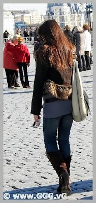 Long-hair girl on the street