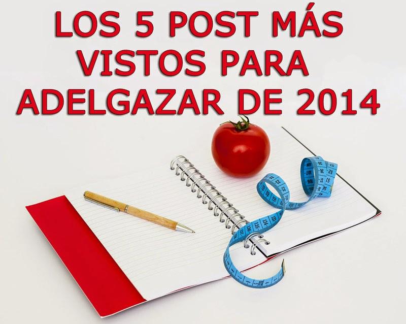 Los 5 post más vistos para adelgazar de 2014