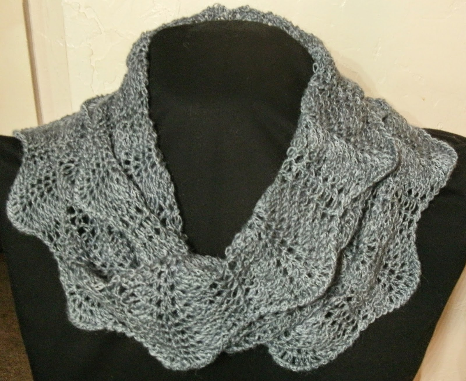 Stitch Whisper: Crochet Feather and Fan Mobius Cowl pattern for sale