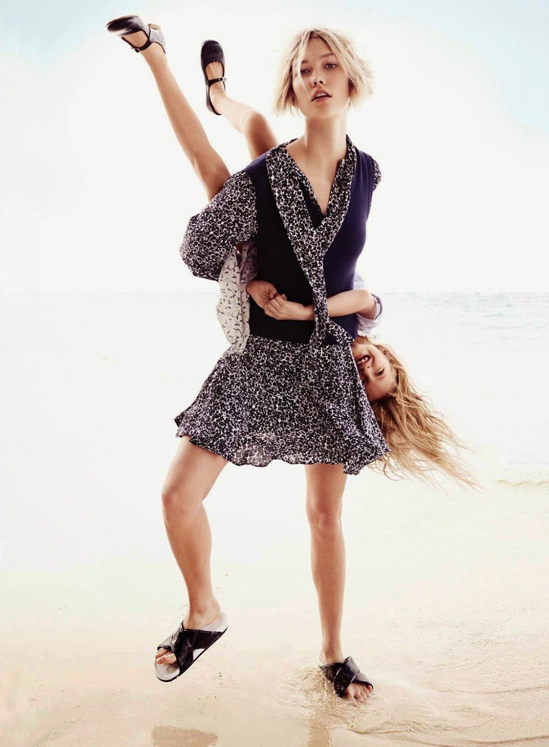 Ray Of Light: Karlie Kloss And Sasha By Mikael Jansson For Vogue April 2014