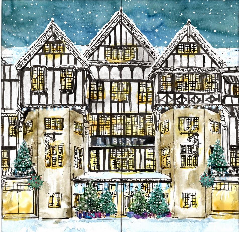 Liberty Print Christmas Beauty Advent Calendar Perfectly