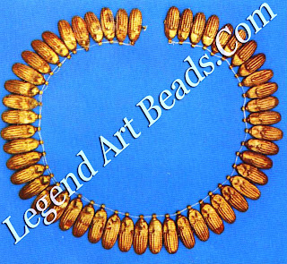 Gold beetle necklace of a princess from Giza