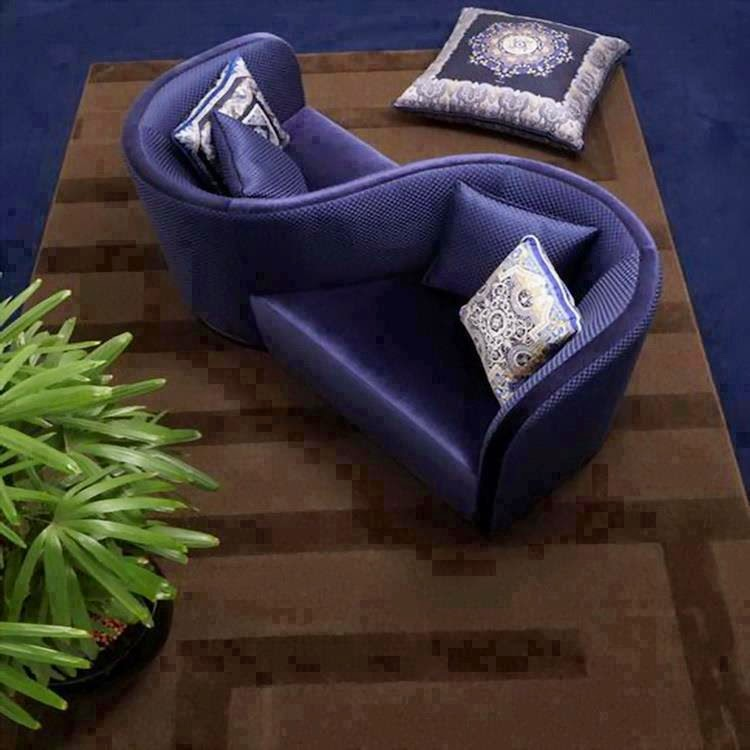 Lovers sofa in dark blue color